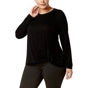 Ideology Womens Top Long Sleeve Super Soft Knotted
